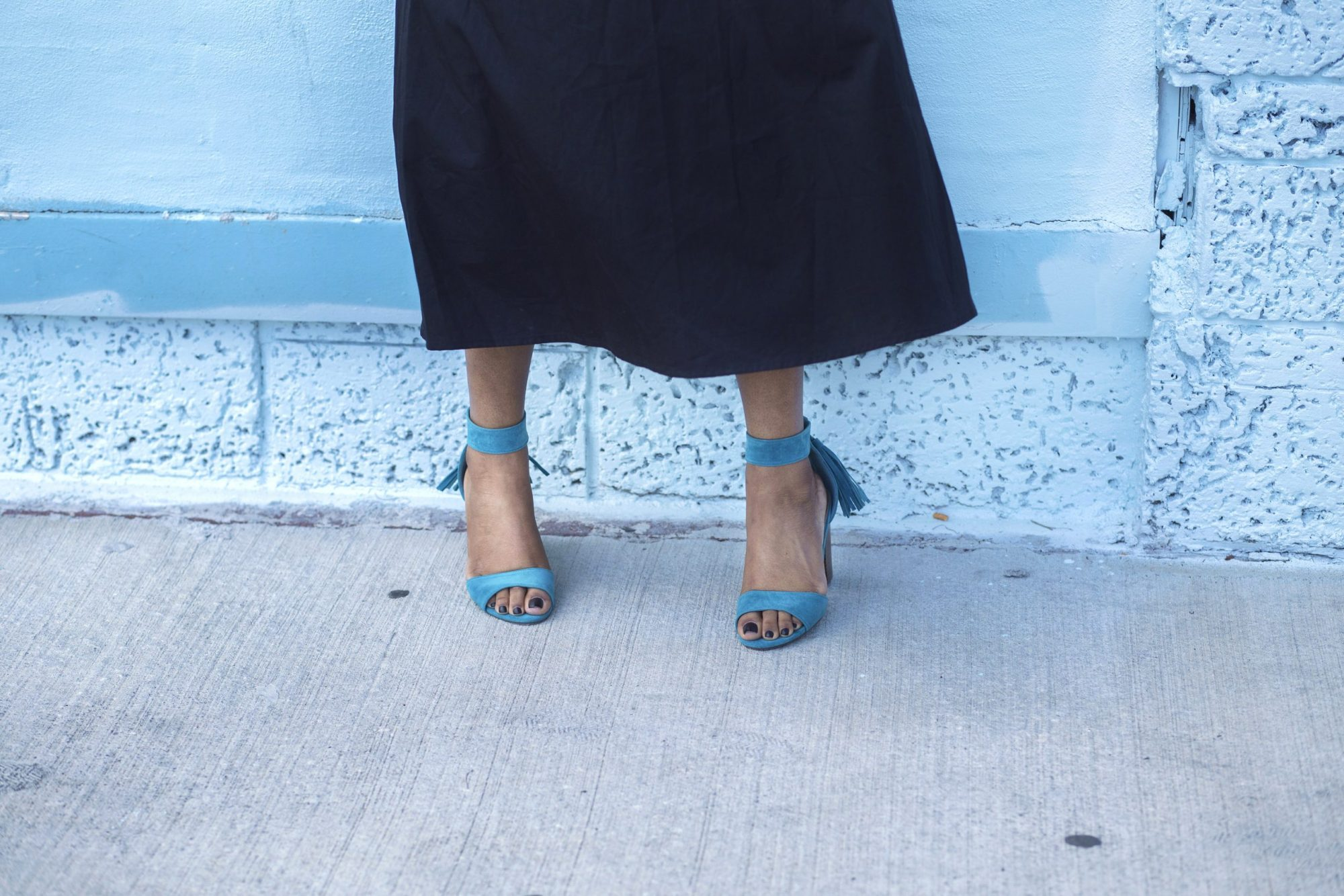 Traffic Shoe Turquoise Heels