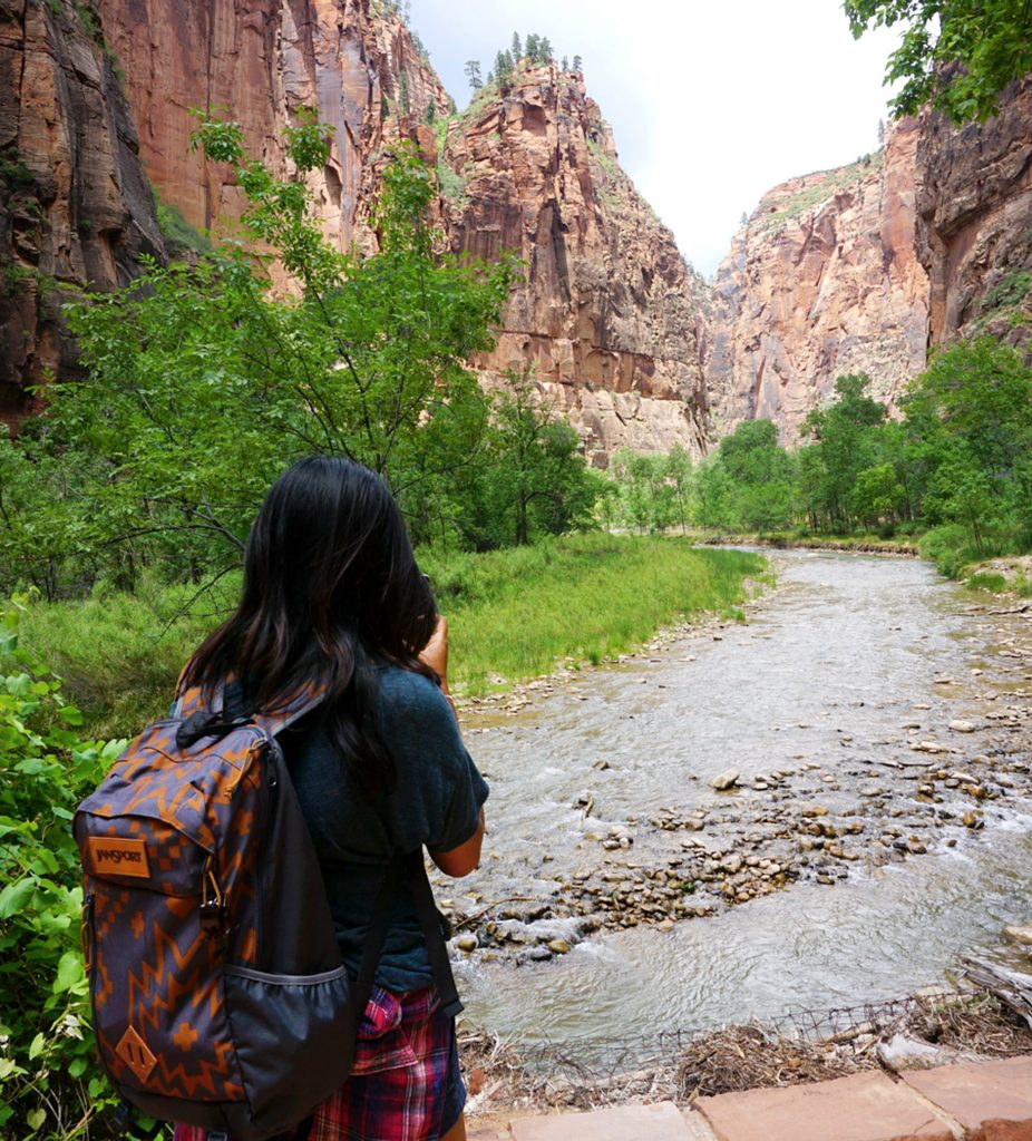 By the narrows Zion National Park