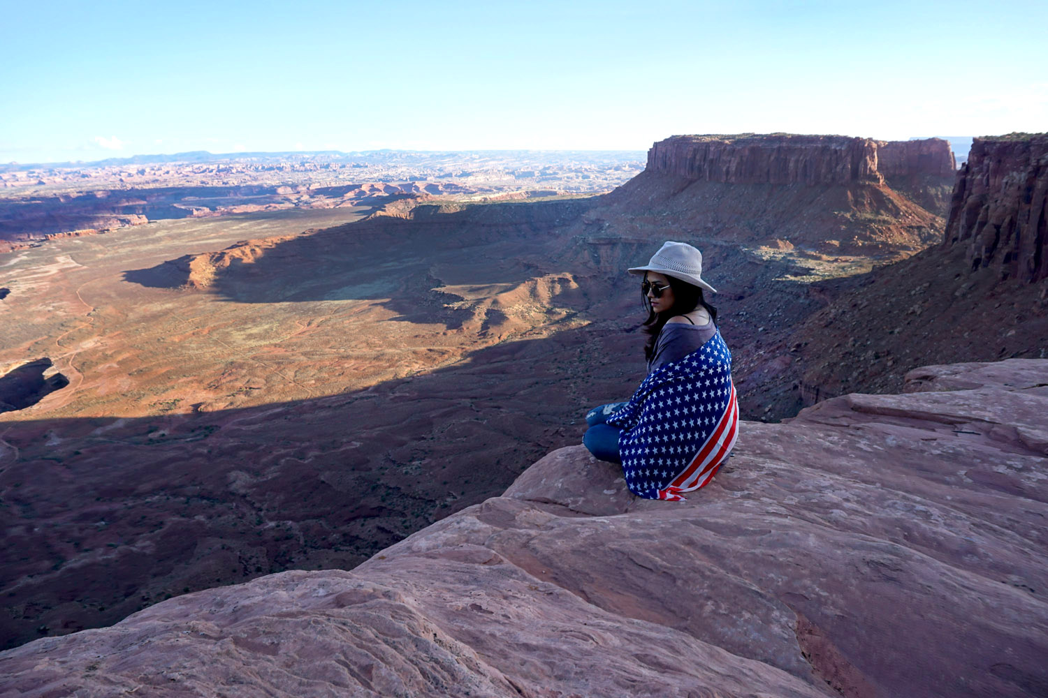 Canyonlands National Park American Flag