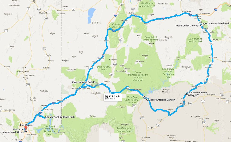 Travel Blogger American West Road Trip