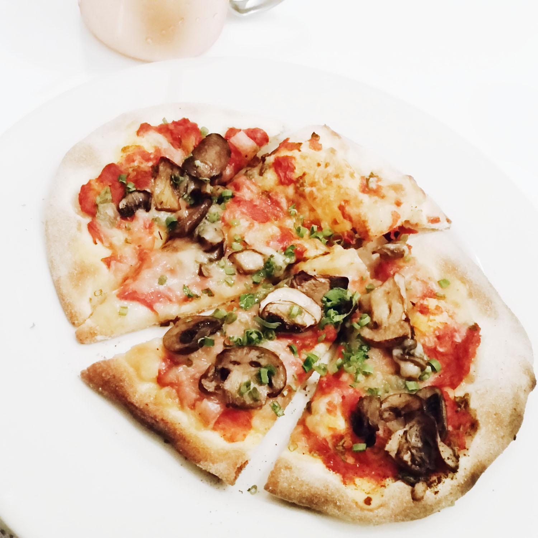 Vegan Smoked Gouda & Mushroom Flatbreads