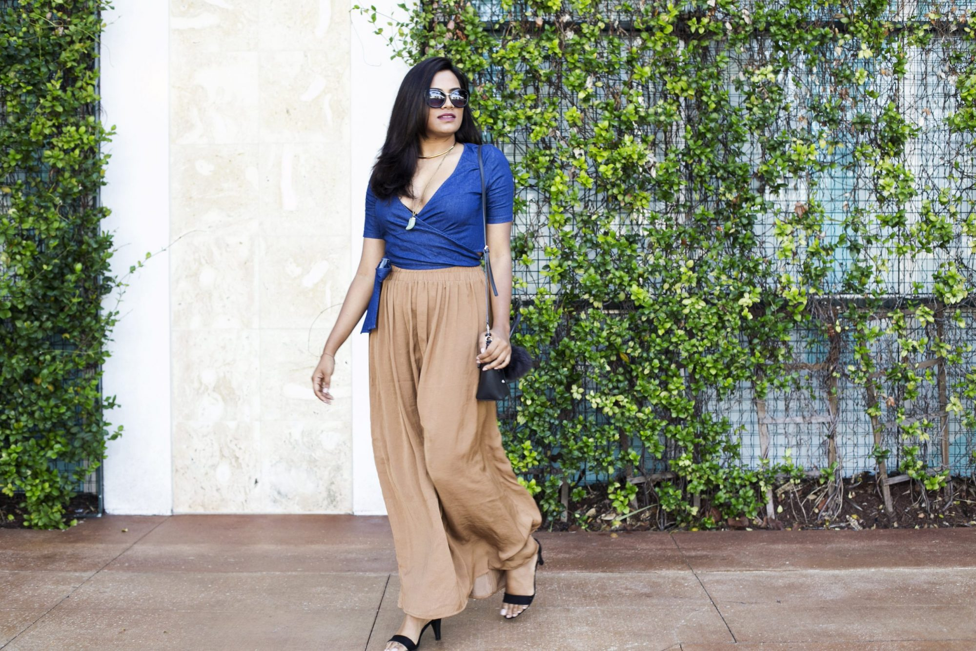 Romwe Navy Wrap Blouse Chic Stylista By Miami Fashion