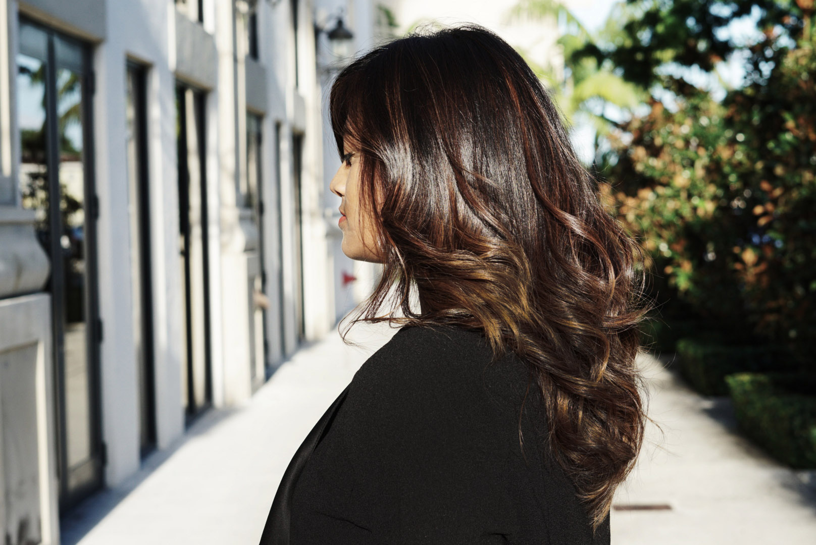 Miami Fashion Ifluencer Balayge Ombre Brunette Hair