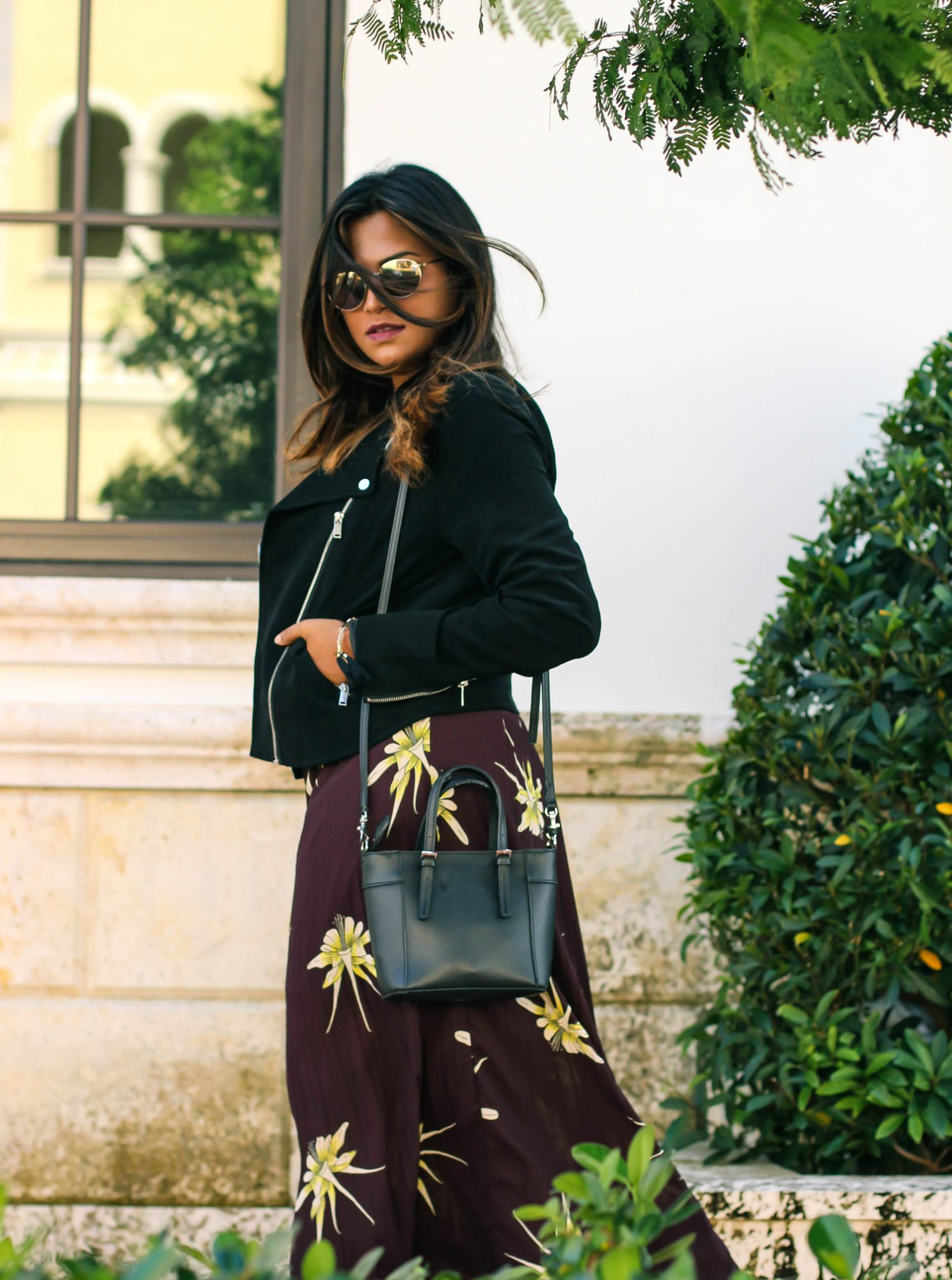 fall-fashion-burgundy-skirt-black-moto-jacket
