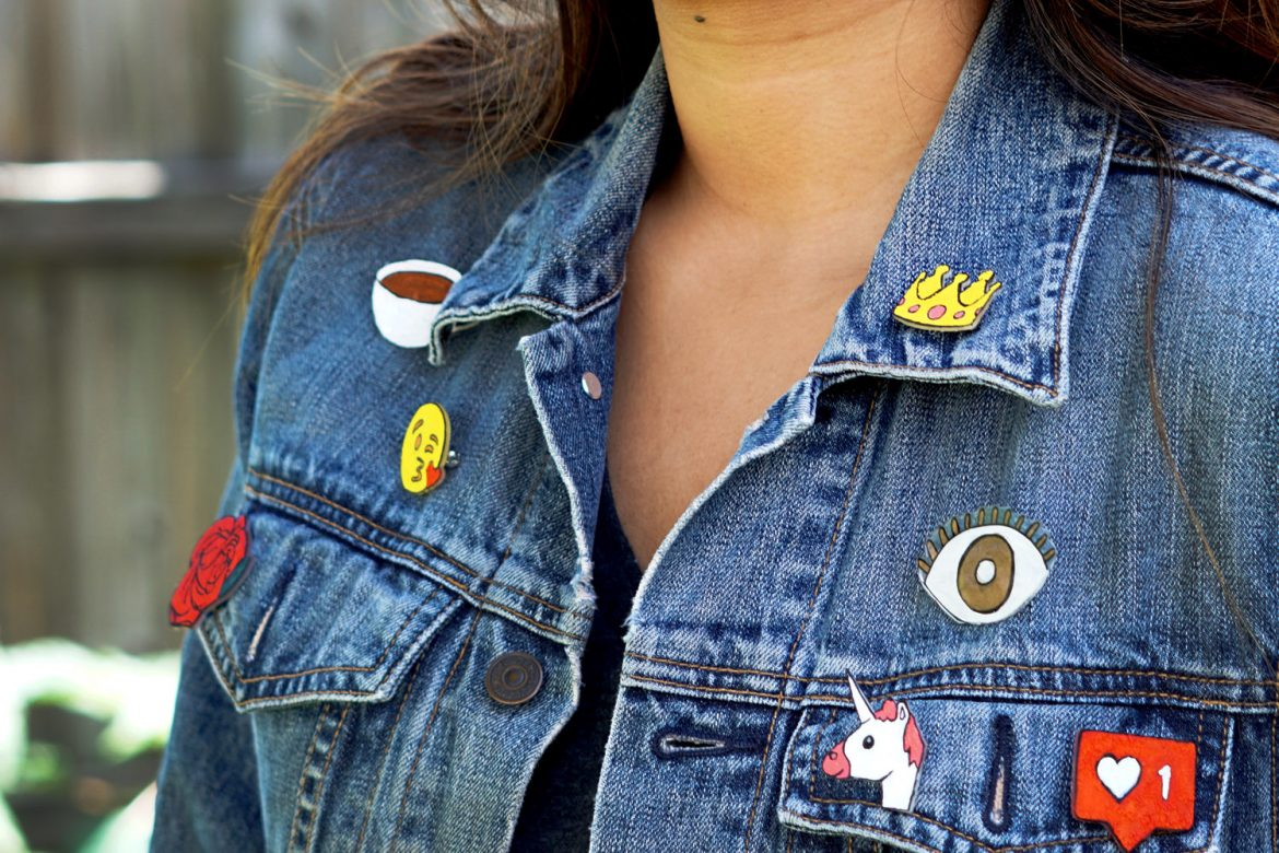 DIY Jacket Flair Pins