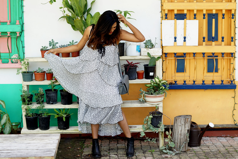 Boho Layered Midi Dress Spring 2017 Style