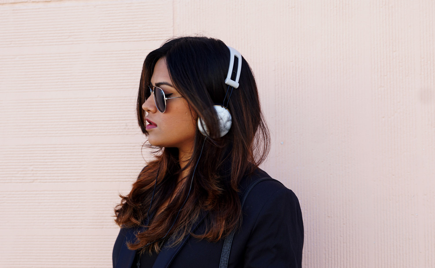 Marble Headphone Style OOTD Inspiration