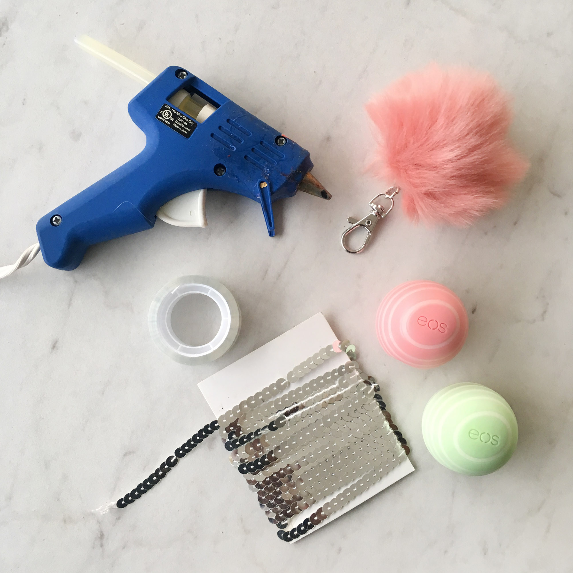 Chic Pretty Pink Spring EOS DIY Keychain Idea