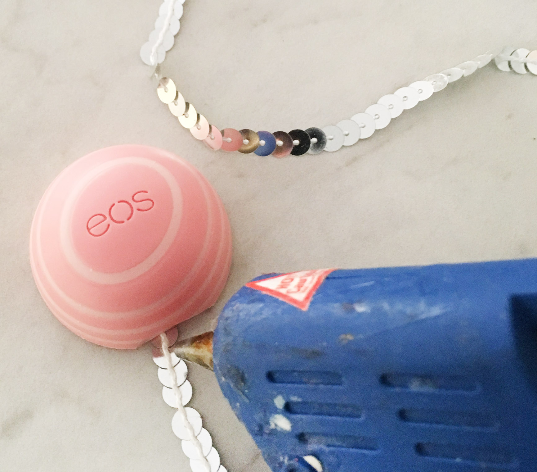 DIY Chic Sequin EOS Lip Balm