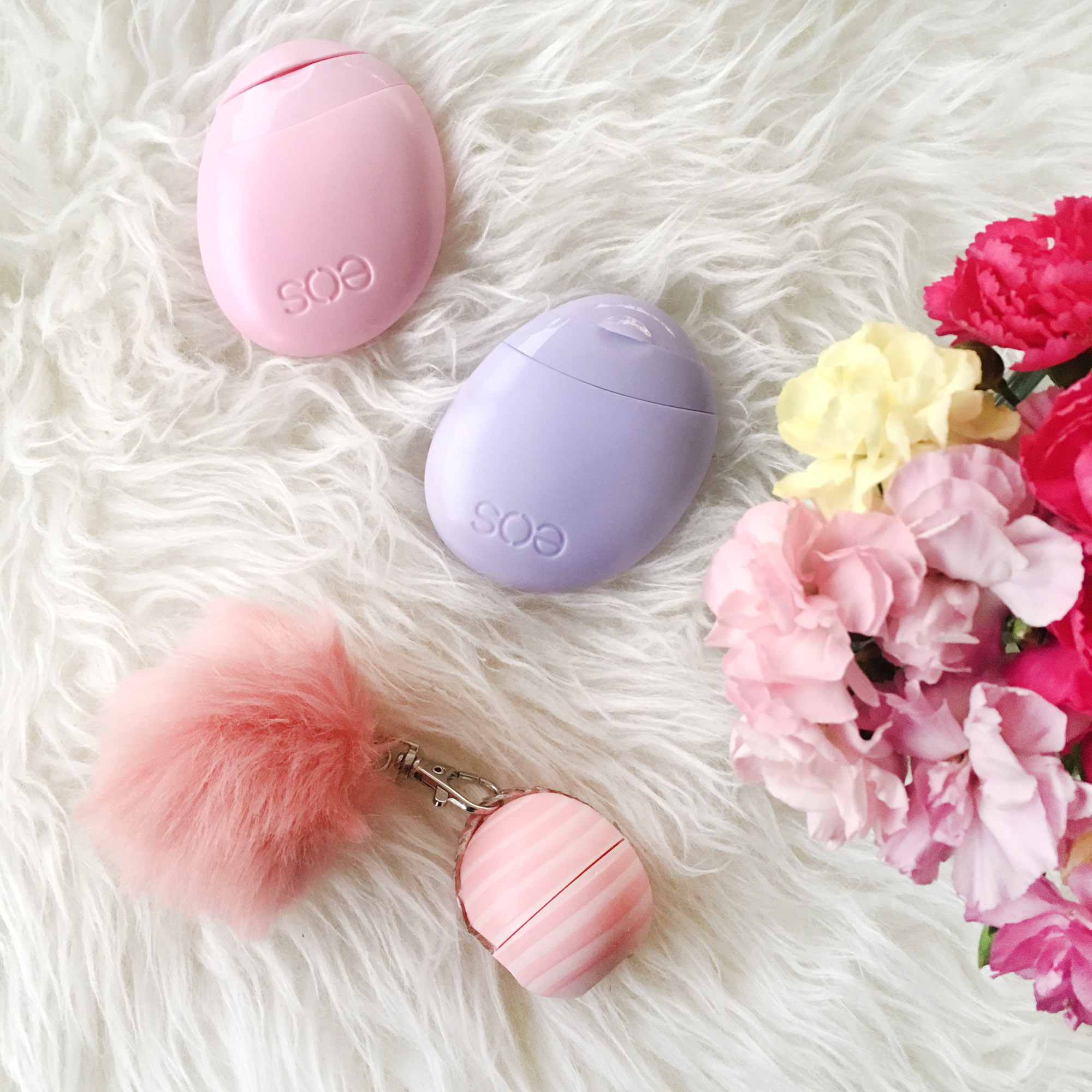 EOS Lip Balm Spring Essentials Flatlay