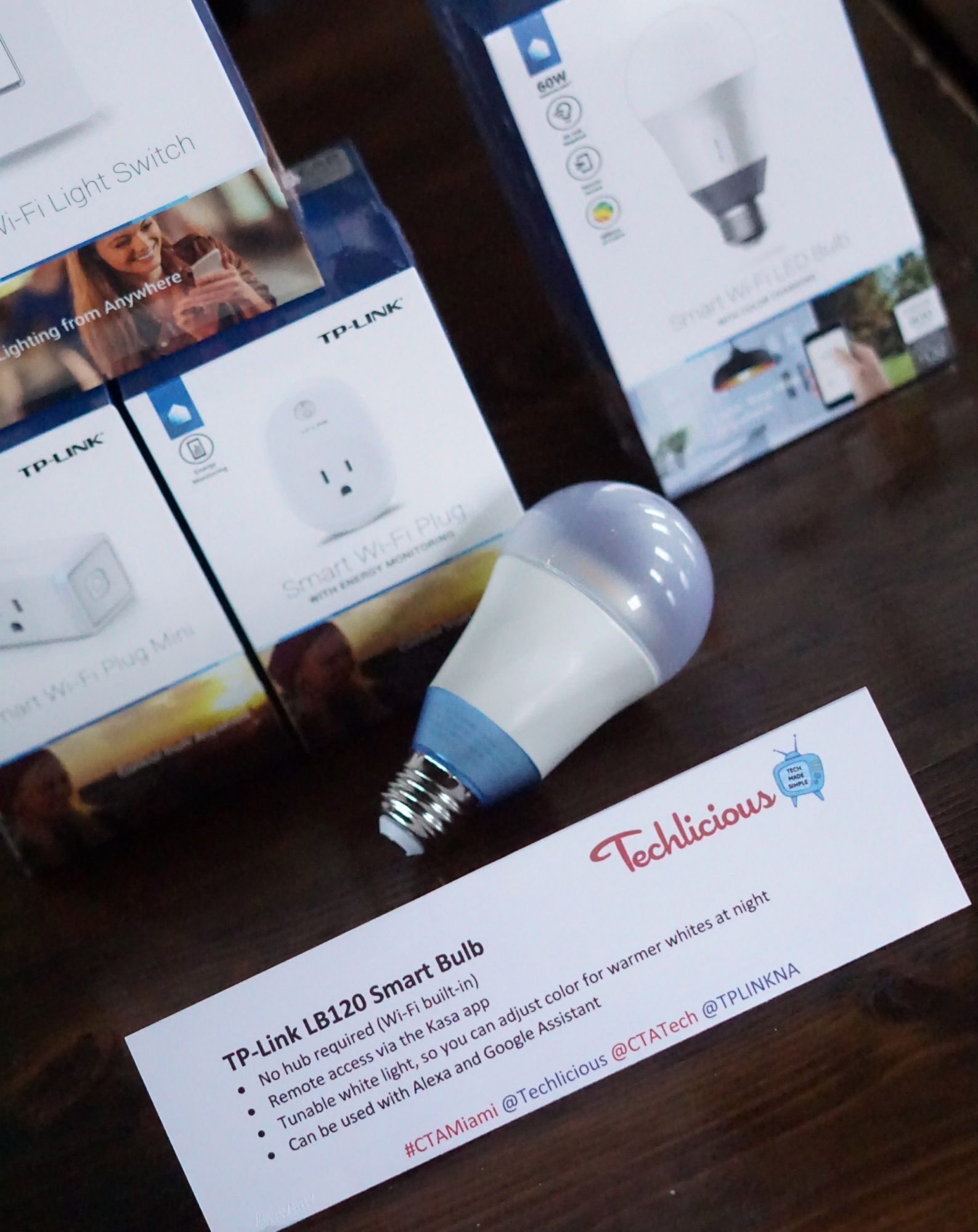 TP‑LINK LB120 Smart Wi‑Fi LED Bulb with Tunable White Light