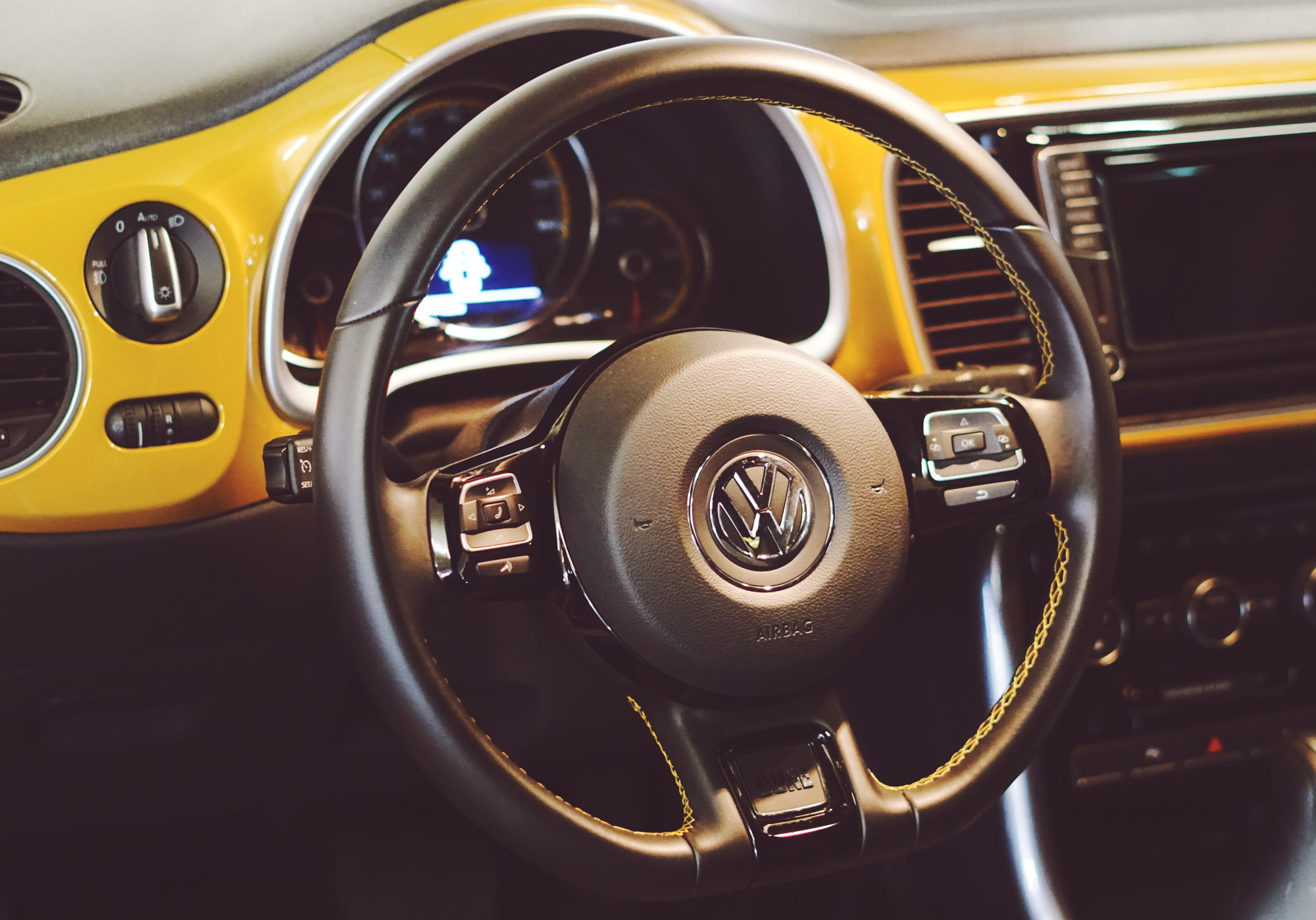 Steering Wheel Detail of Volkswagen Dune Convertible