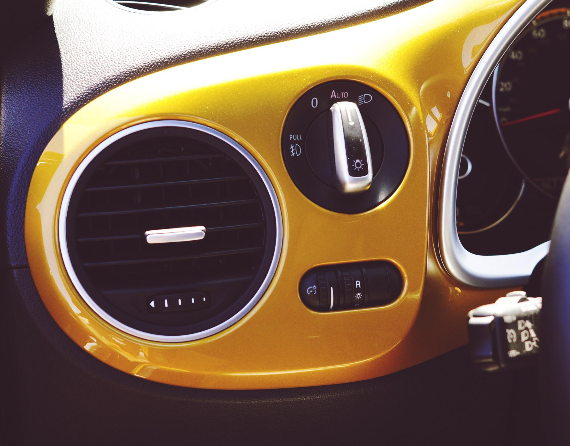 Headboard detail of Volkswagen Dune Convertible