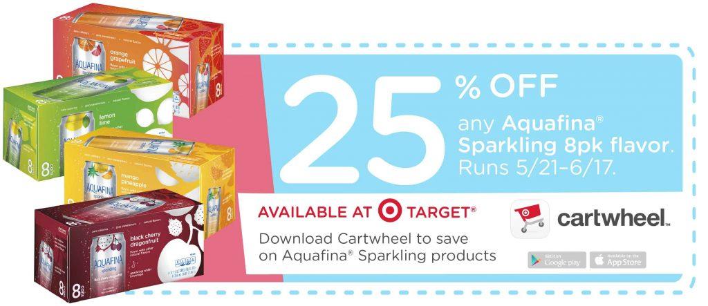 Aquafina Sparkling Target Coupon