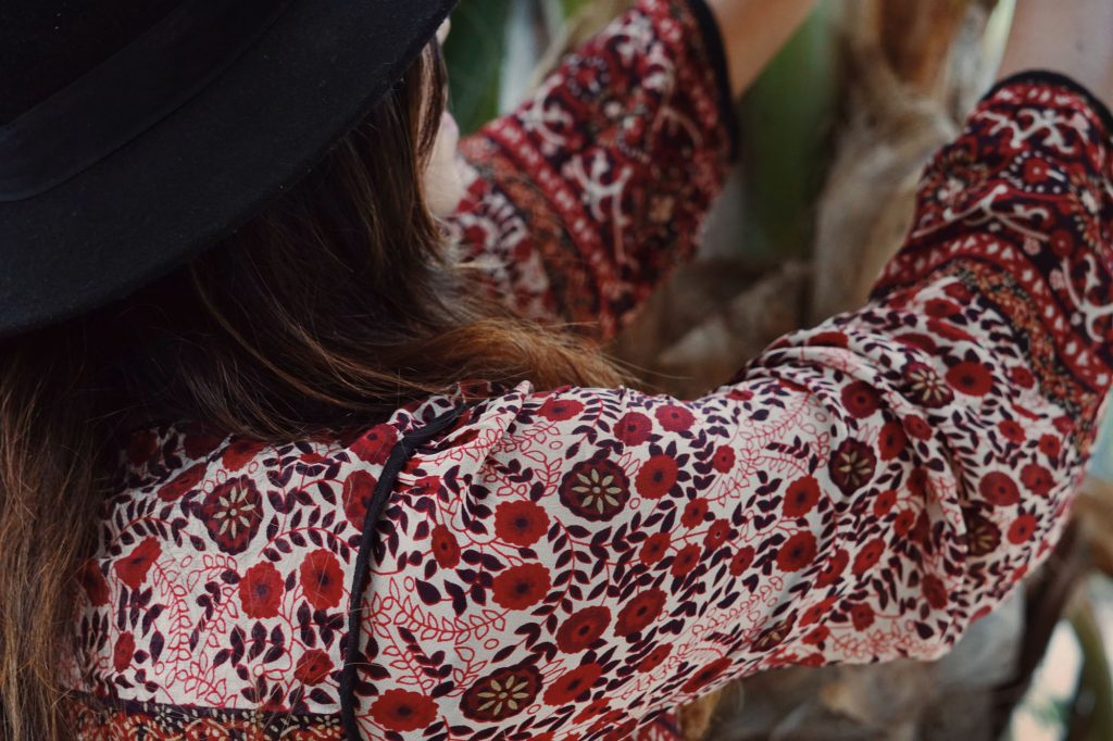 Zara red printed floral boho summer dress