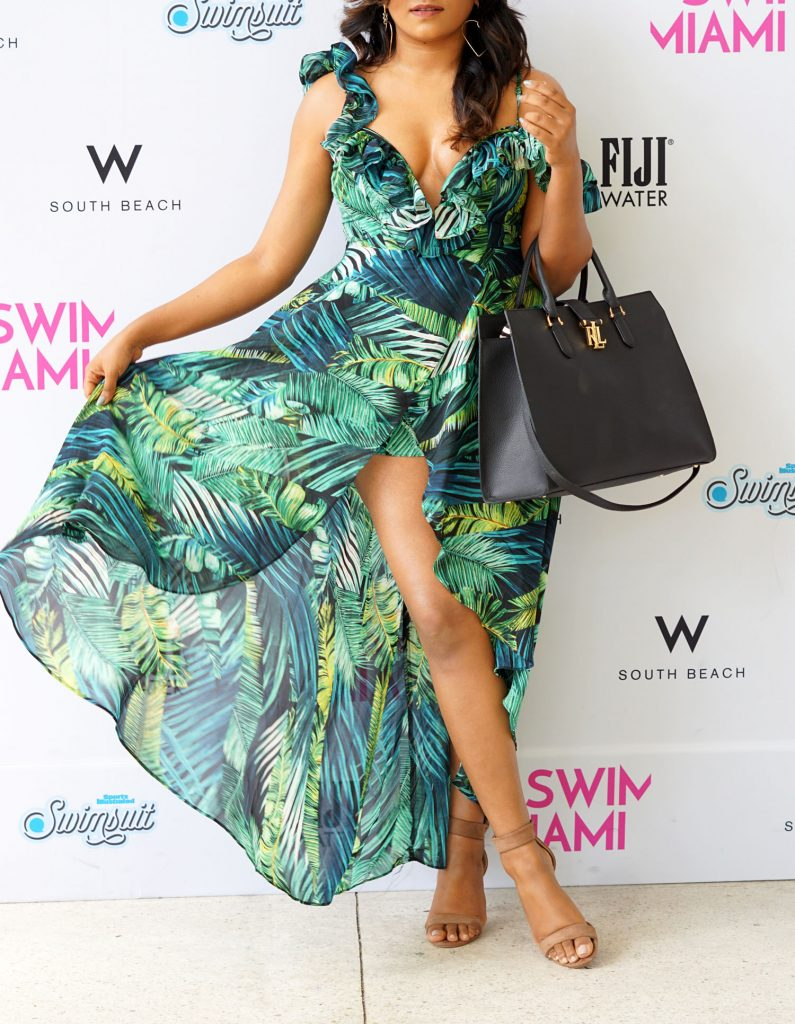 Miami Fashion Blogger Palm Print Boho Dress