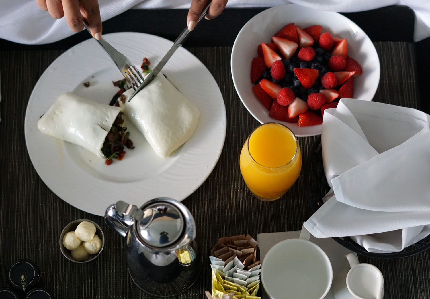 Delicious Luxury Hotel Breakfast Travel Blogger