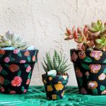 DIY Floral Painted Terra Cotta Pots