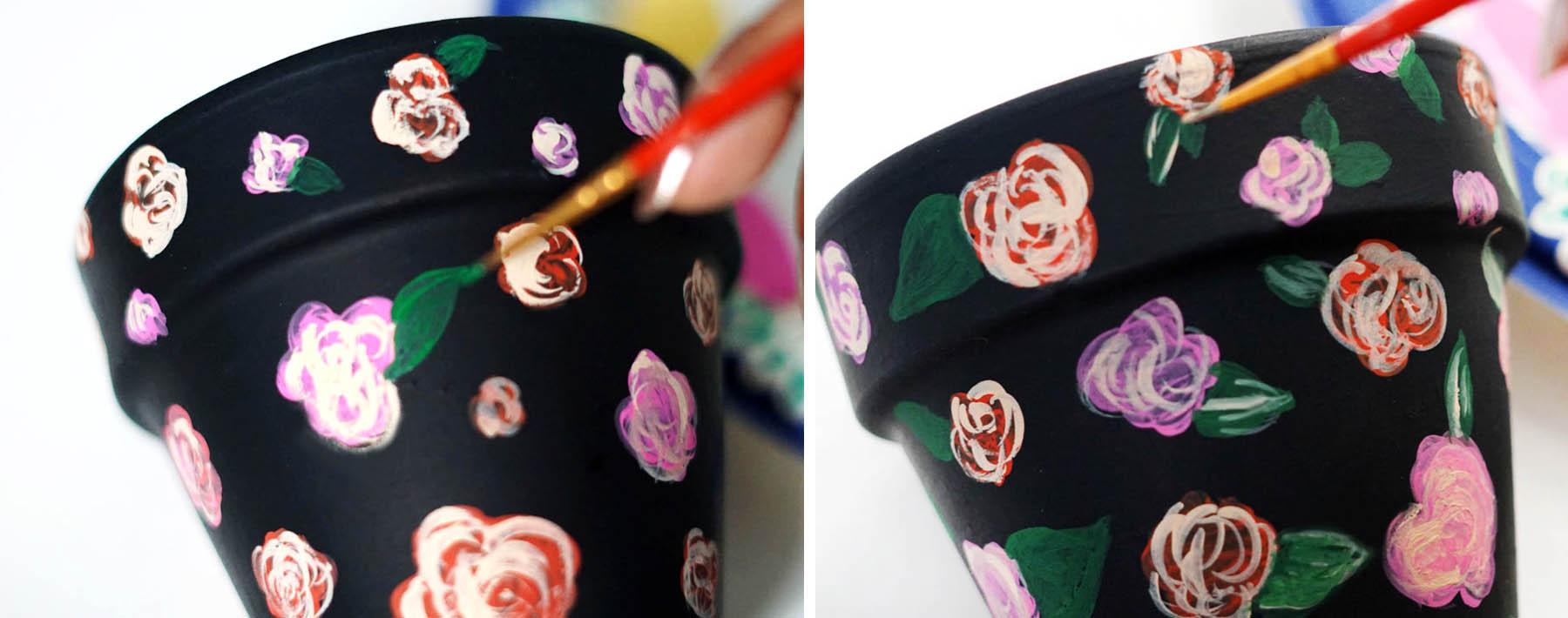 Terra Cotta Pot Design Painted Art