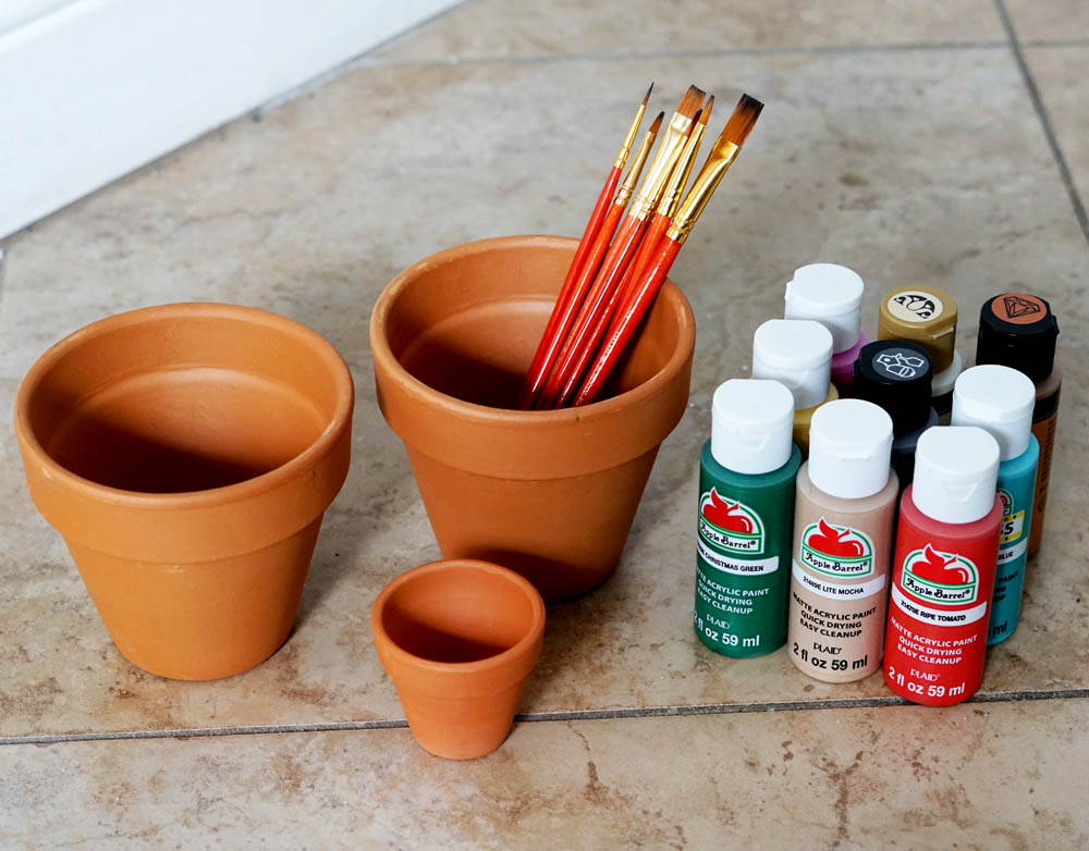 DIY Lifestyle Blogger Terra Pots Supplies