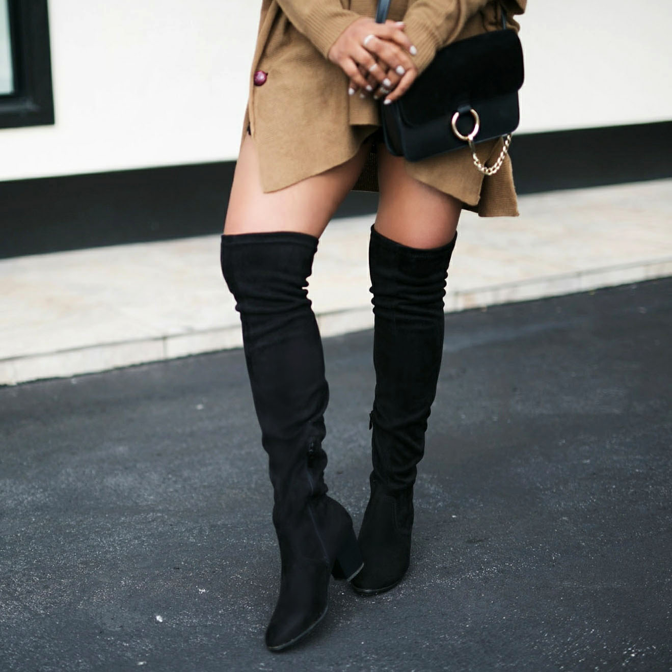 Over The Knee Trend Boots Street Style