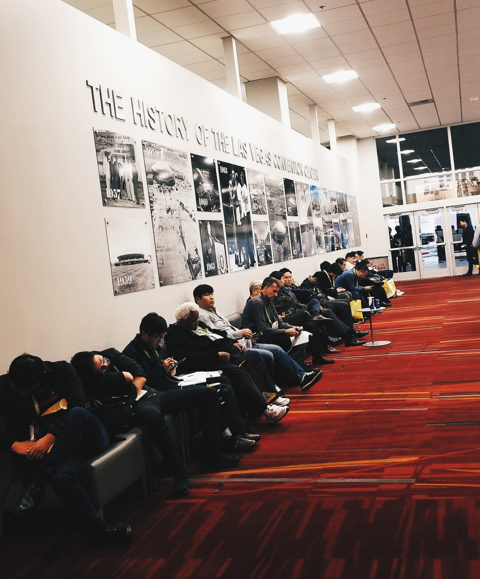 Exhausted CES 2018 attendees