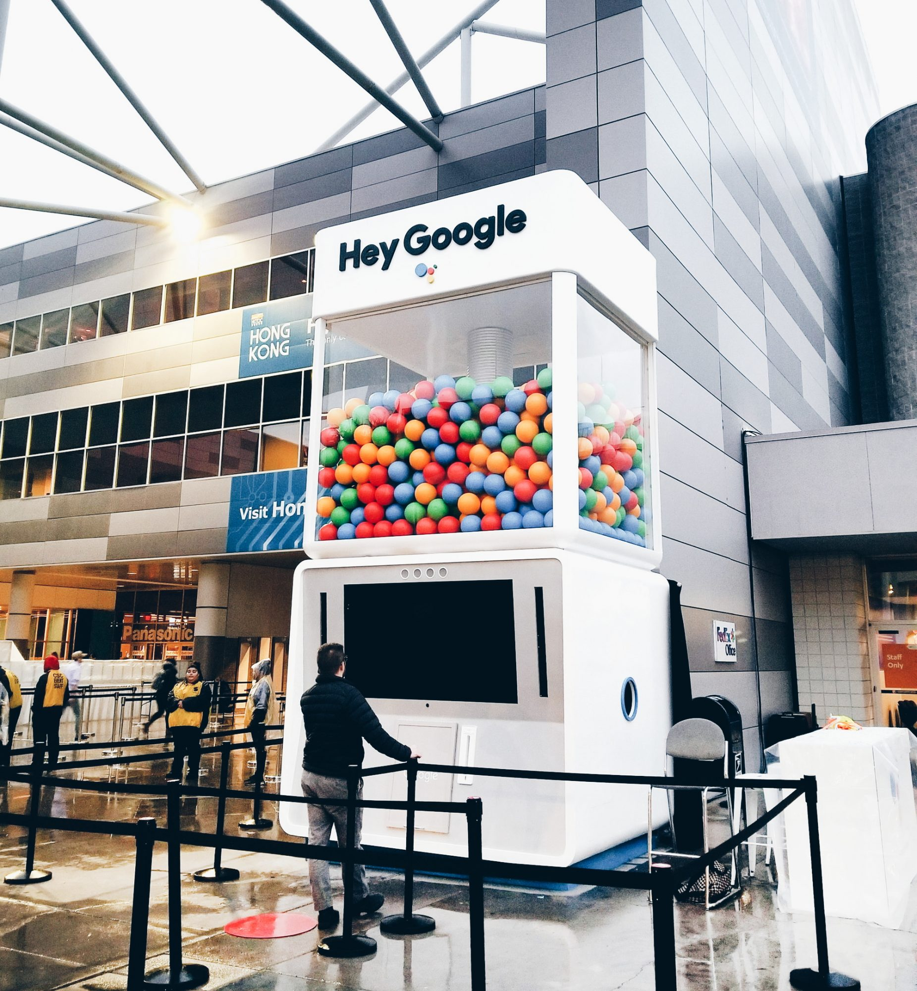 Las Vegas Convention Center Hey Google