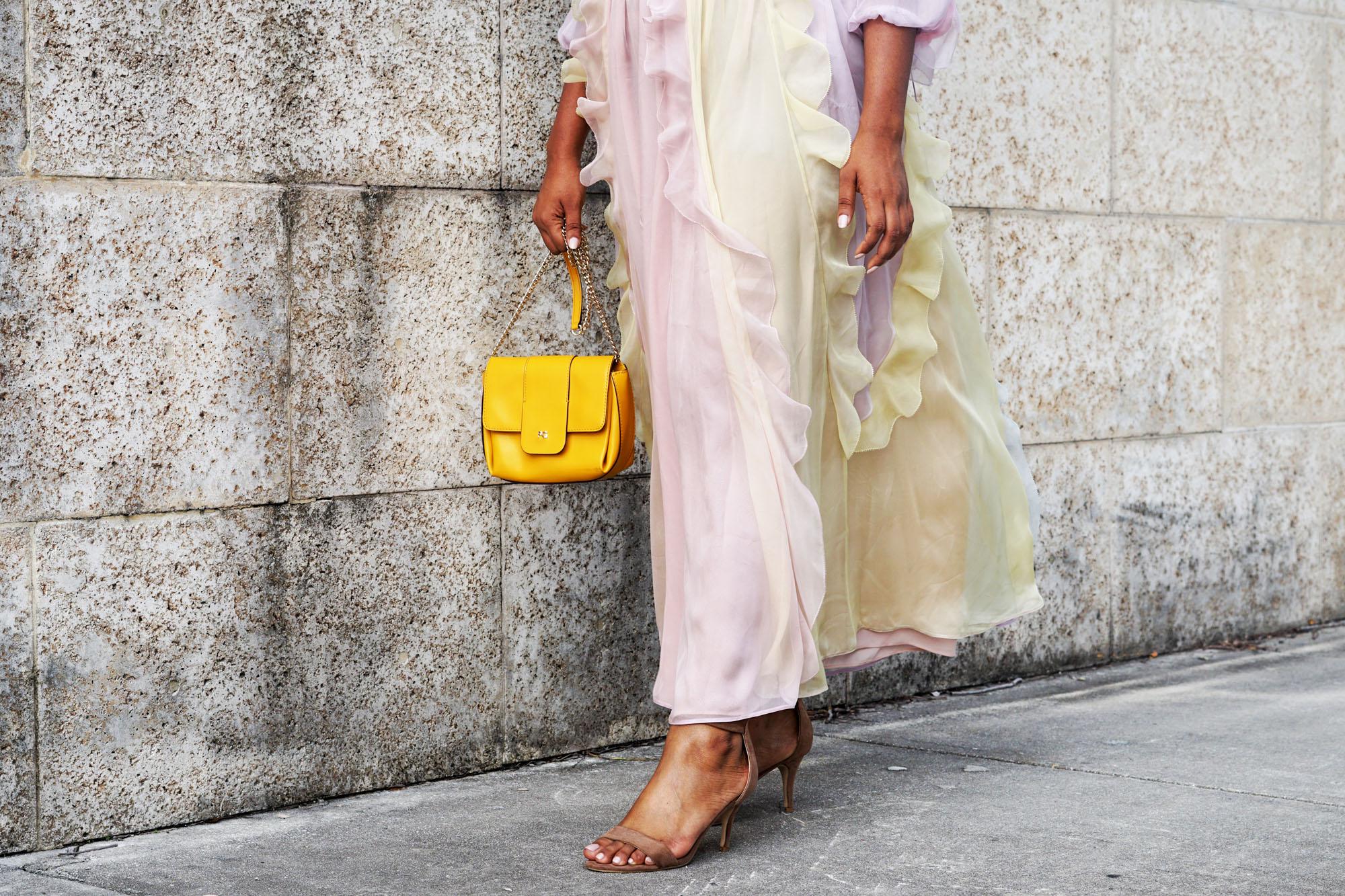Valentino Ruffle Pastel Spring Dress