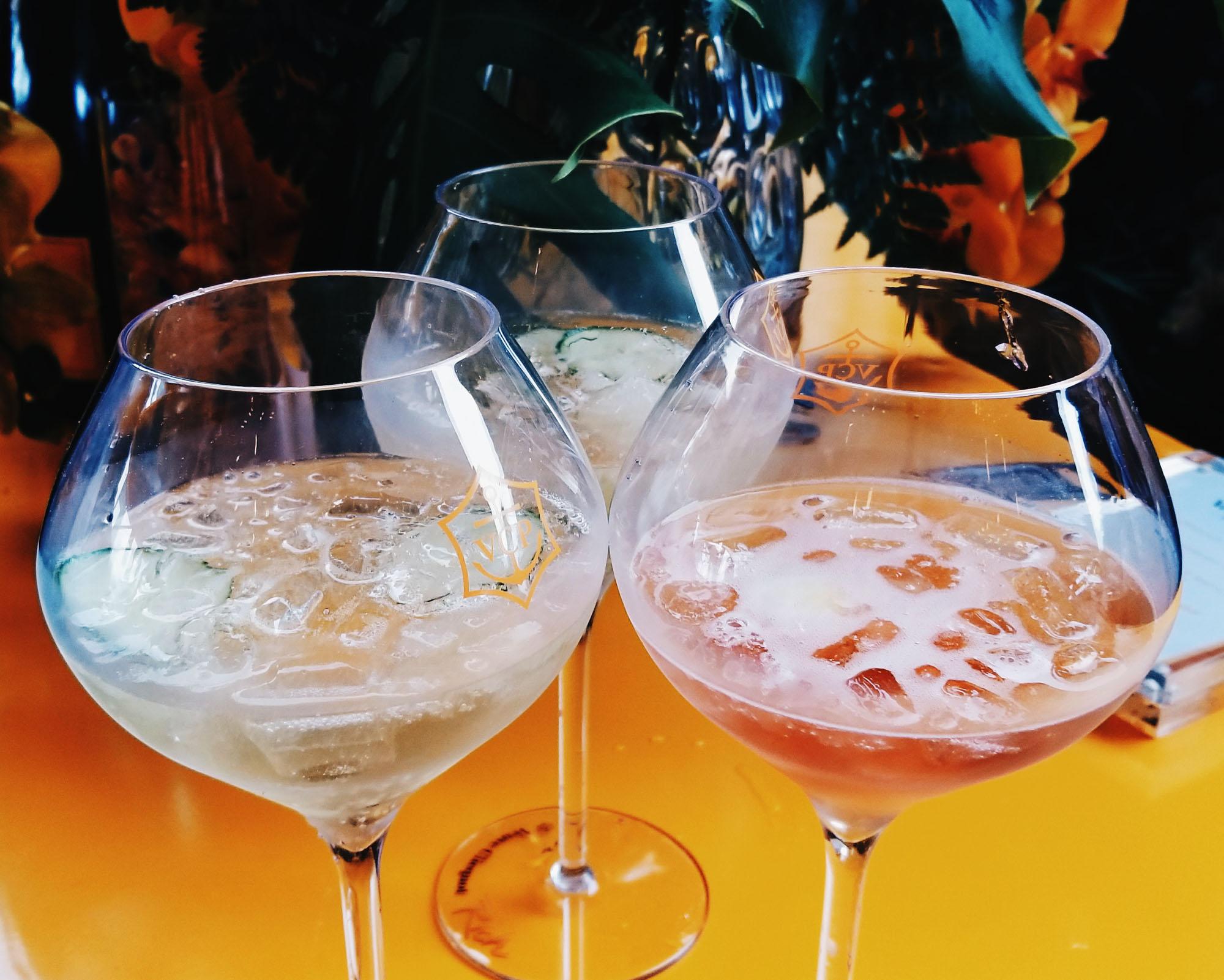 Veuve Clcquot Champagne Mix Drinks