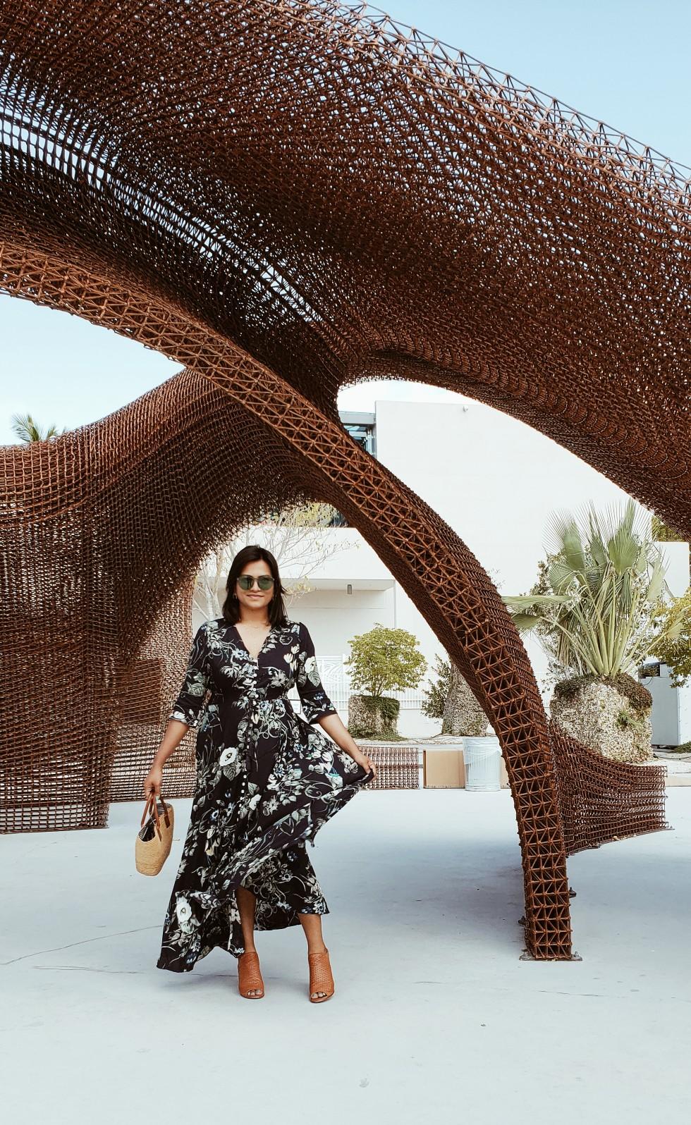 Chic Stylista Miami Fashion Blogger Maxi Spring Dress