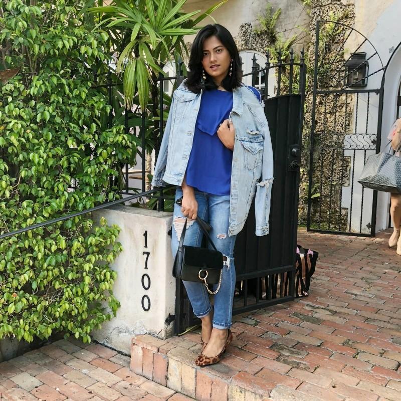 Victoria's Secret Jeans Jacket Miami Street Style