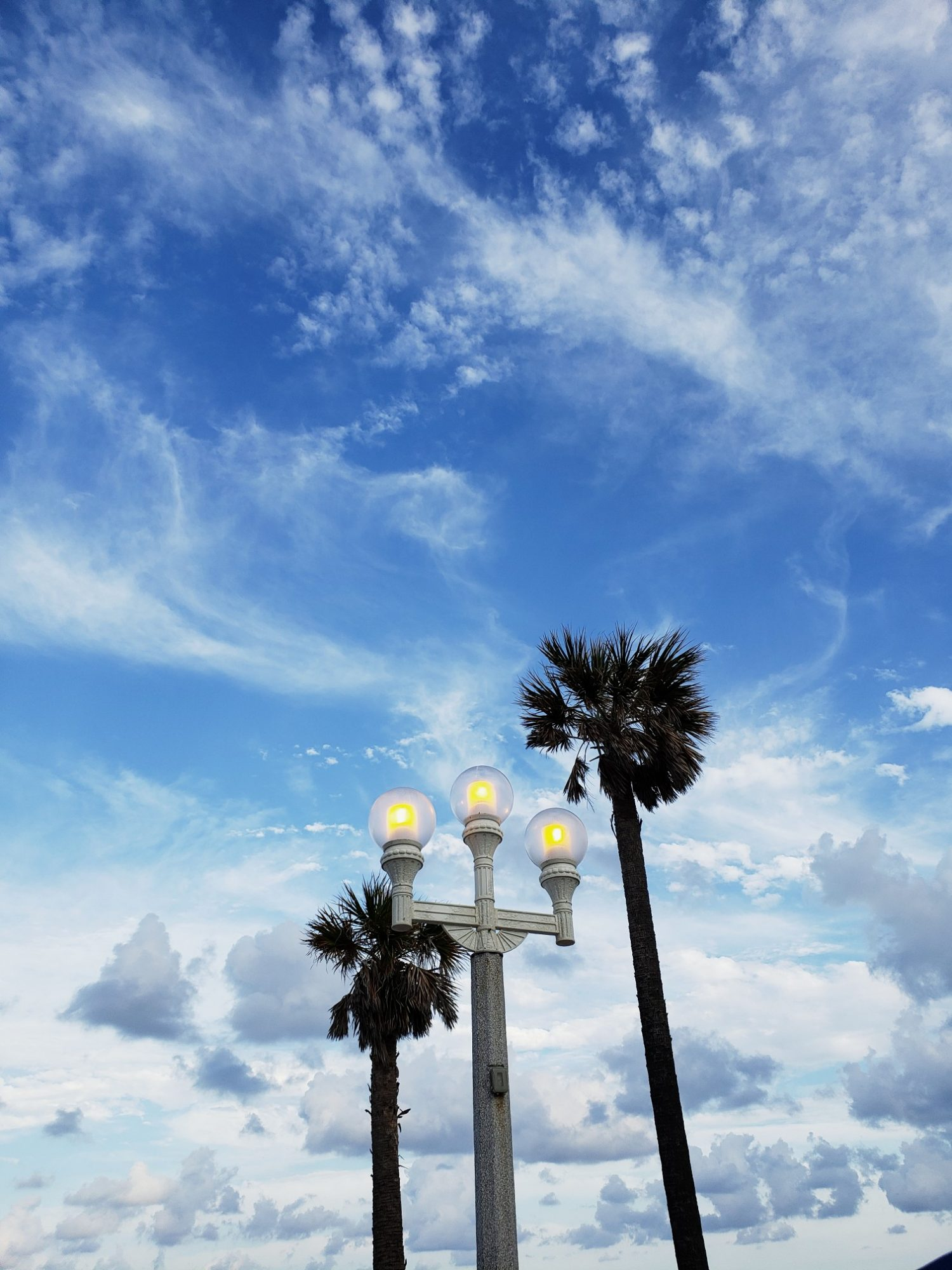 Hollywood Beach Travel Blogger Street Lights