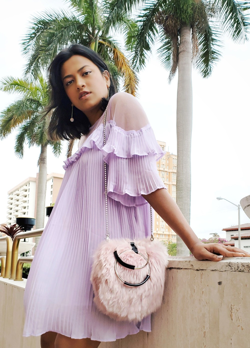 Purple & Pink Coral Gables Fashion Street Style