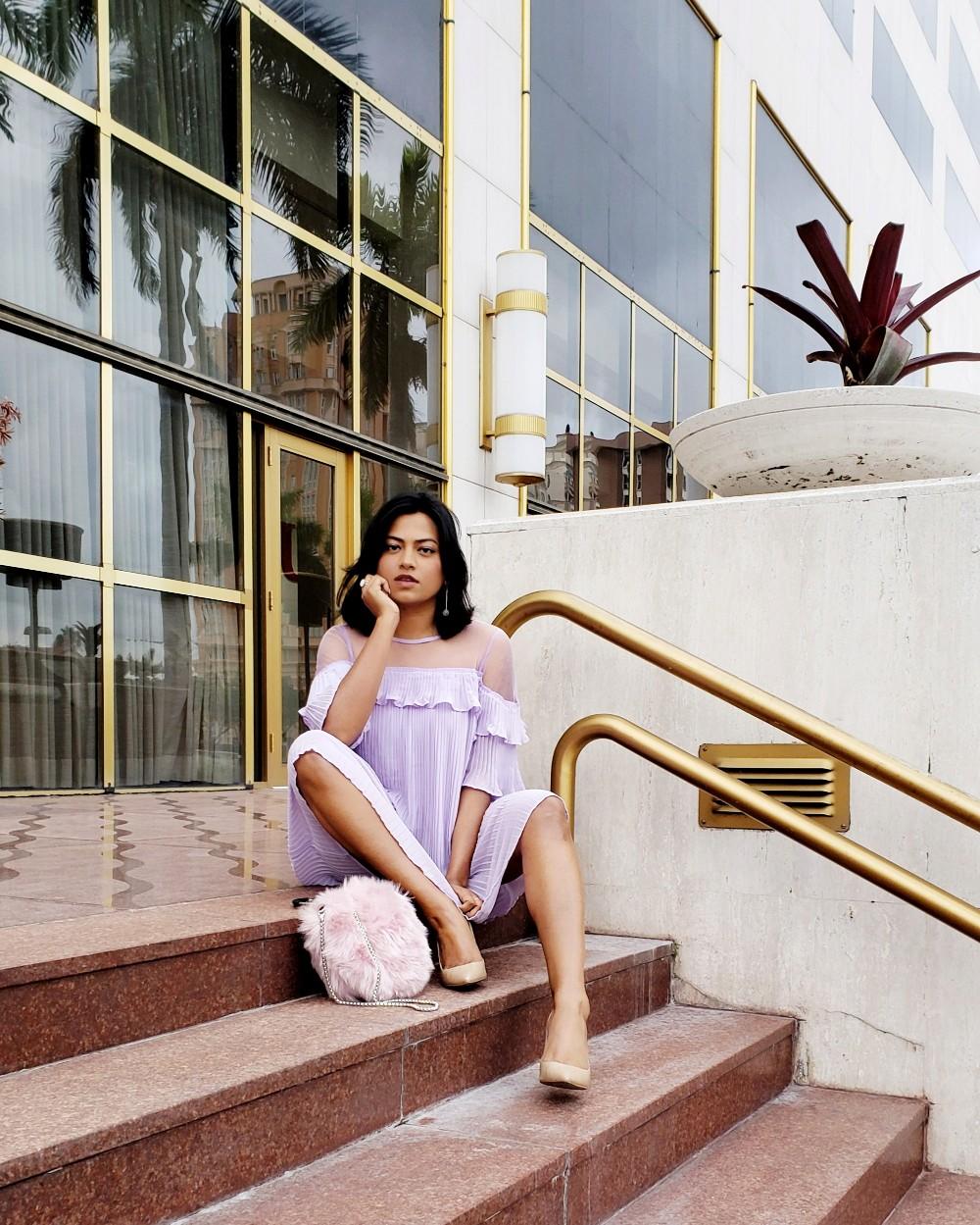Miami Fashion Blogger Afroza Khan Wearing Grown-Up Pink