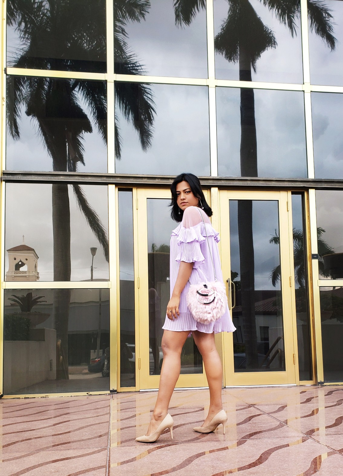 Miami Fashion Blogger in Lavendar, the Grown-Up Pink