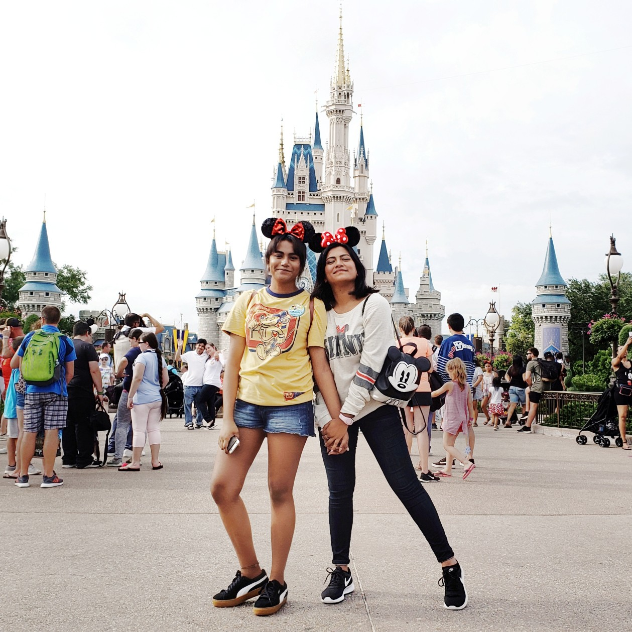 Sisters Best Friends in Orlando Walt Disney World Magic Kingdom