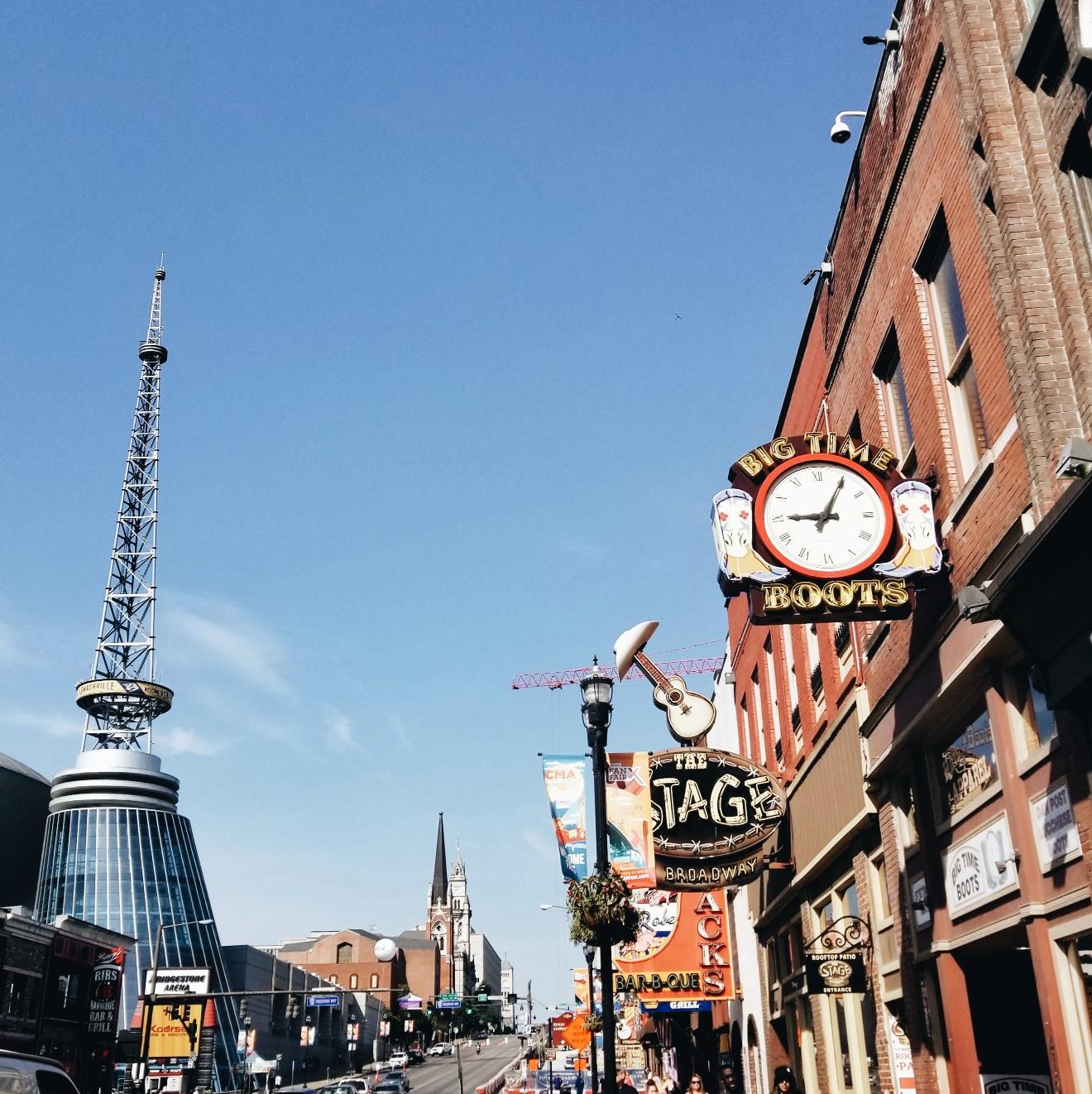 Nashville Tennessee Broadway Daytime Stroll