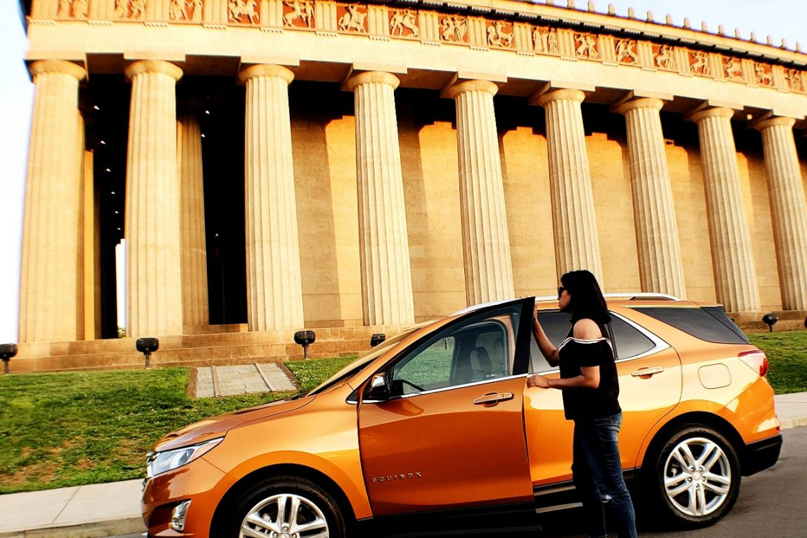 Golden Hour at the Parthenon with 2018 Chevrolet Equinox Premiere