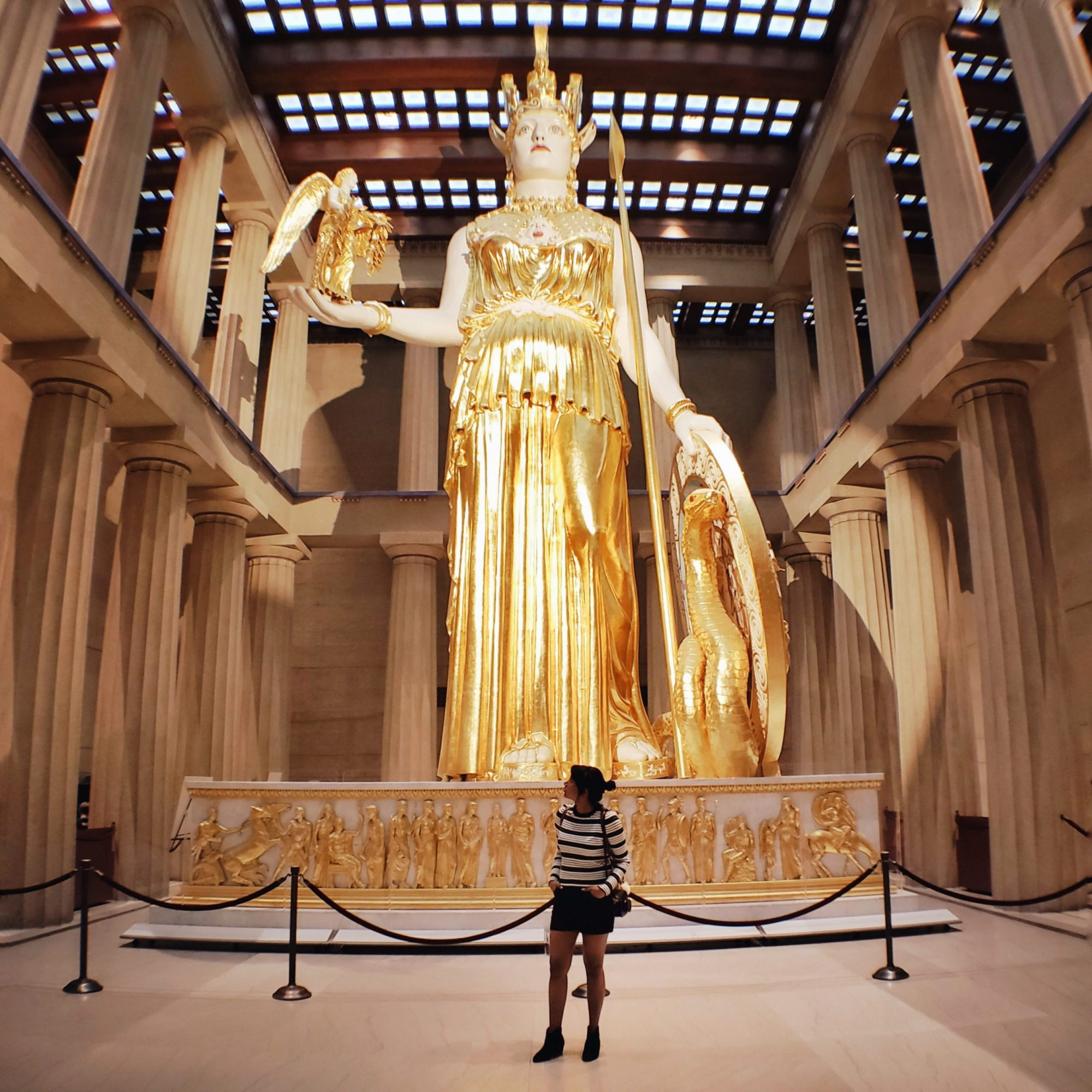 Nashville Tennessee Gold Athena Statue Percy Jackson