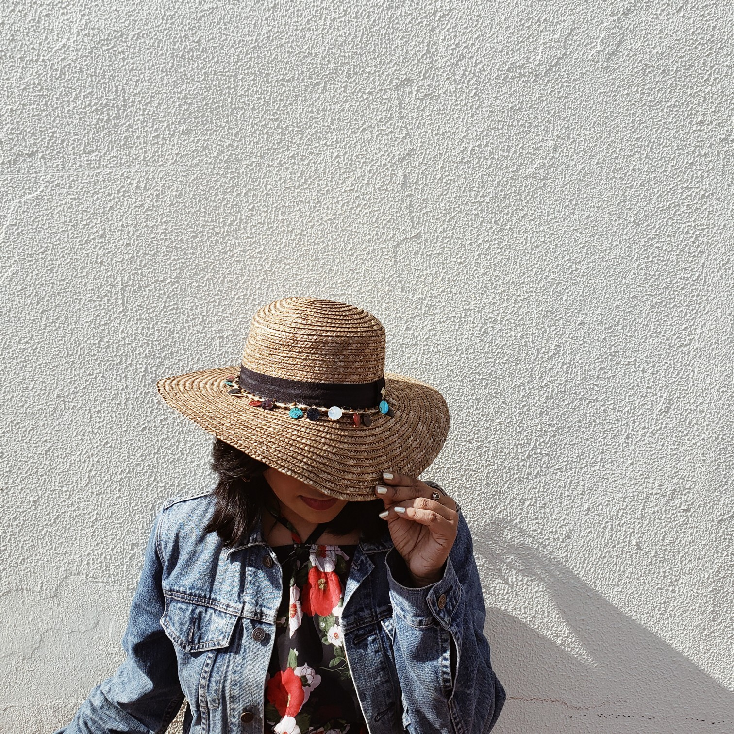 Fashiom Blogger Straw Summer Free People Hat Outfit