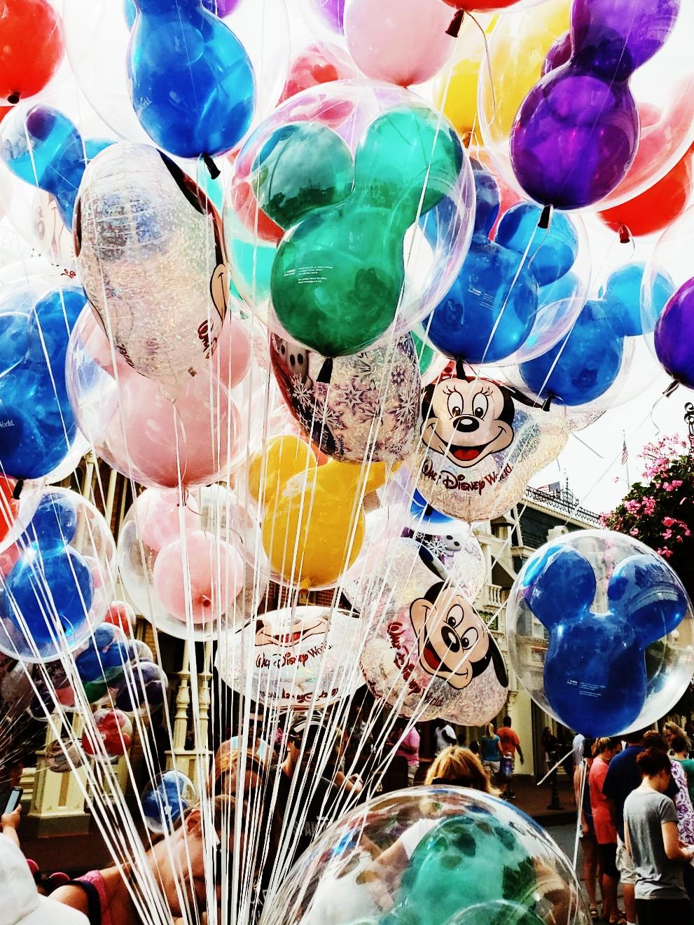 Colorful Magic Kingdom Balloons Walt Disney World