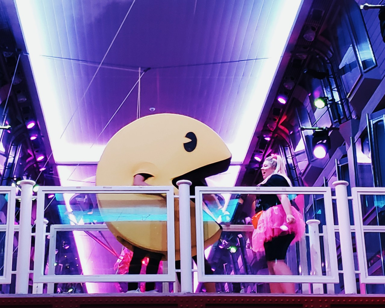 Pac-man Mascot Royal Caribbean 80s Dance Cruise