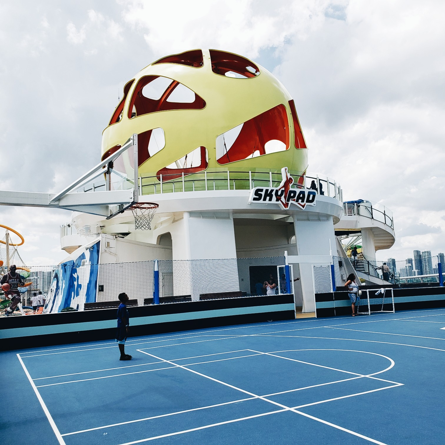 Royal Caribbean Mariner of the Seas Sky Pad next to Basketball Court