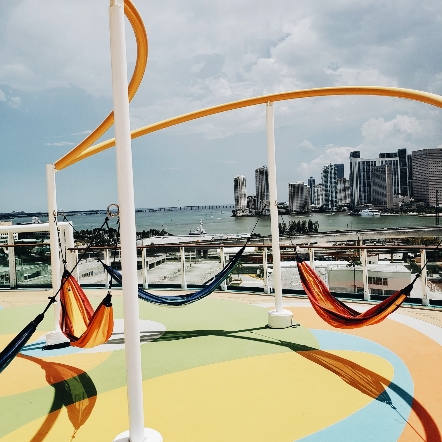 Royal Caribbean Hammocks with a view of Downtown Miami