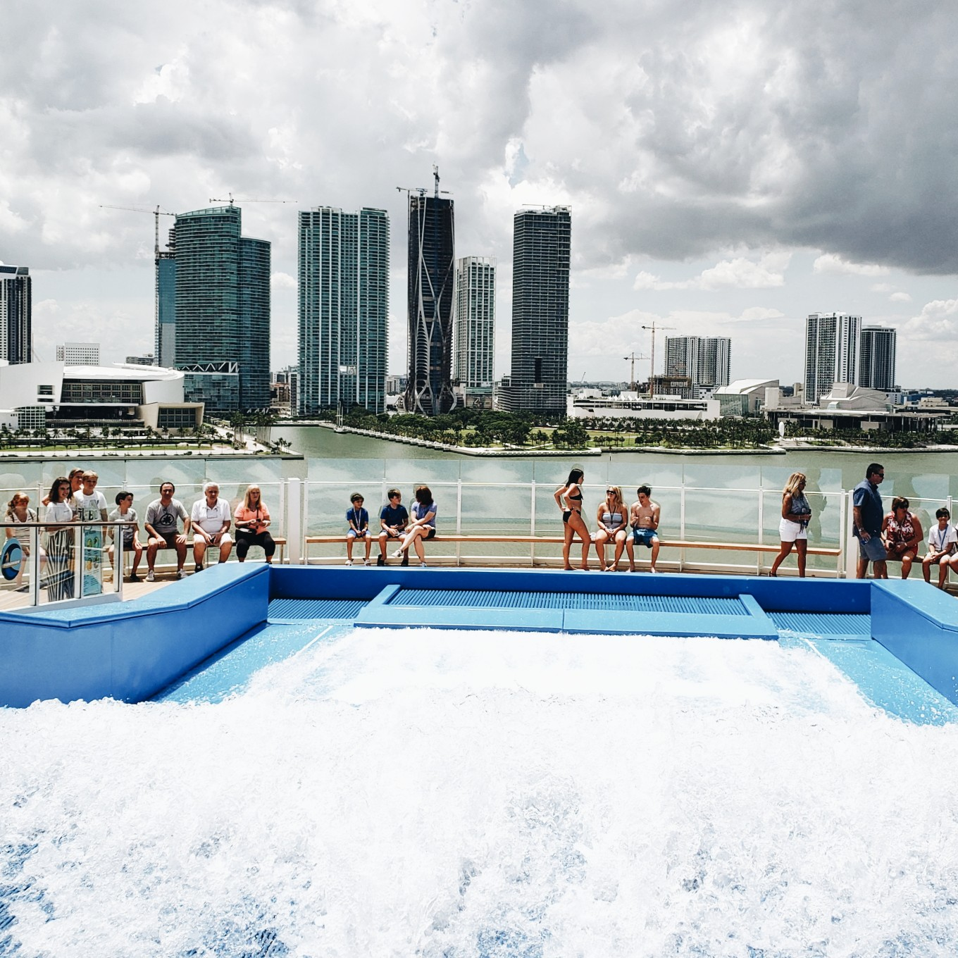 View of Downtown Miami Brickell from Royal Caribbean Ship Mariner of the Seas