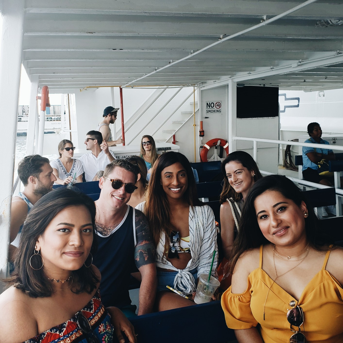 Travel Bloggers Boat Ride to Cococay Island from Royal Caribbean Cruise