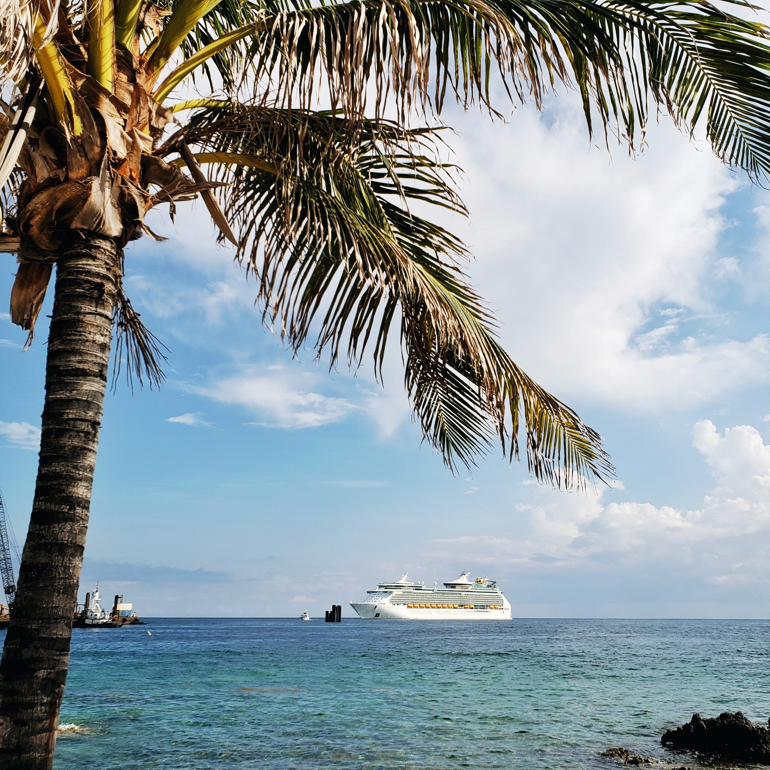 Royal Caribbean Mariner of the seas near Cococay Island Bahamas