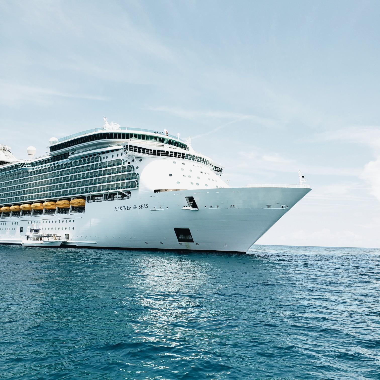 royal caribbean mariner of the seas on the ocean