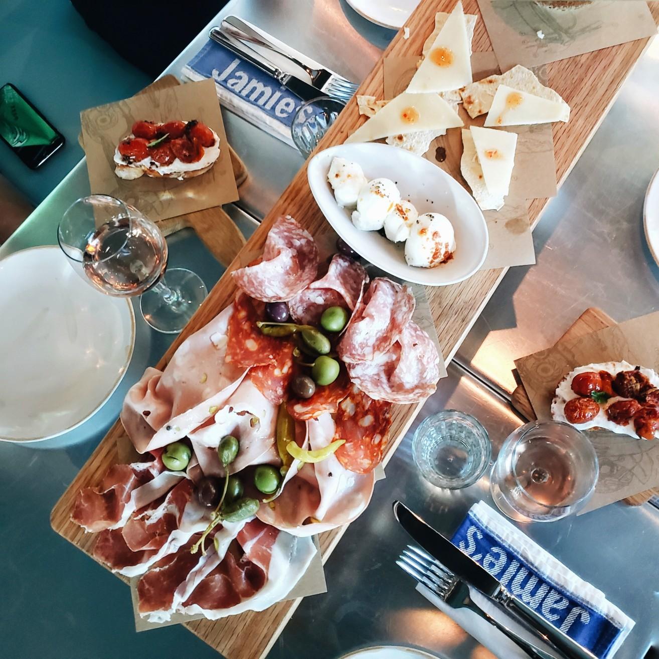 Jamie's Italian Appetizers on Mariner of the Seas