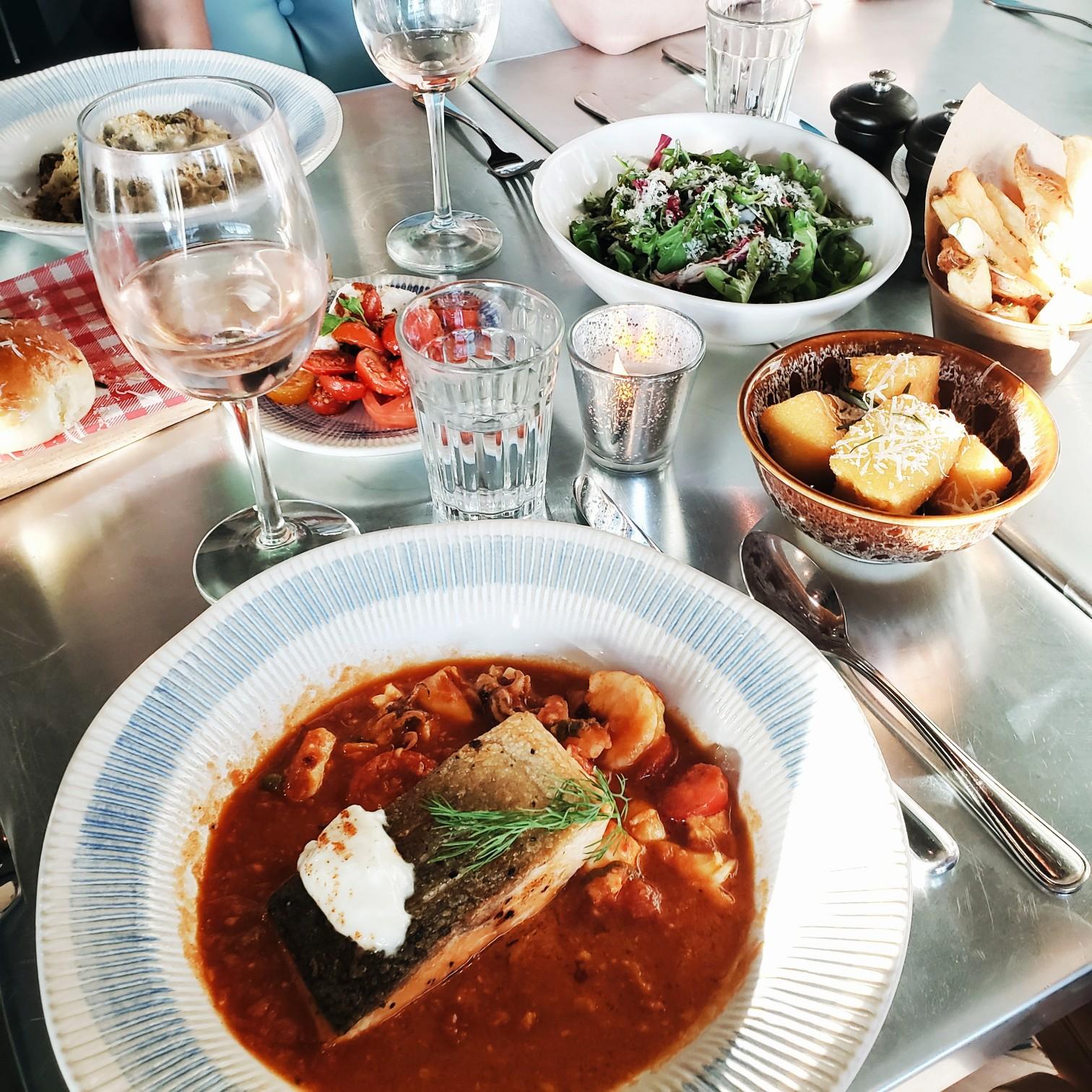 Jamie's Italian Salmon Dinner at Royal Caribbean Cruise